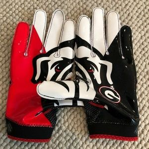 Nike Superbad 4.0 Football Gloves Georgia Bulldogs